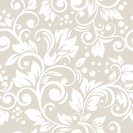 Illustration for Seamless pattern with flowers and leaves  Floral ornament  - Royalty Free Image