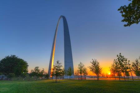 Foto de The Gateway Arch in St. Louis, Missouri. - Imagen libre de derechos