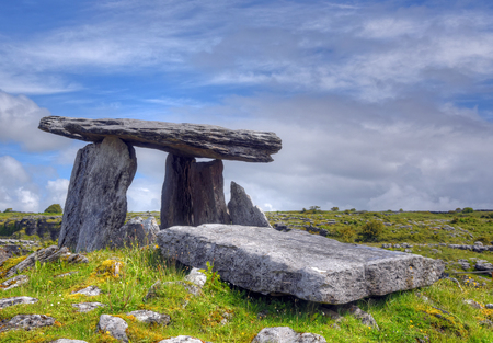 Photo for Poulnabrone Dolmen tomb, the Burren, Ireland - Royalty Free Image