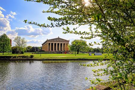 Photo pour The Parthenon in Nashville, Tennessee is a full scale replica of the original Parthenon in Greece. The Parthenon is located in Centennial Park. - image libre de droit