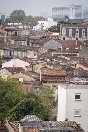 Photo pour Aerial point of view of the roofs of Bordeaux France - image libre de droit