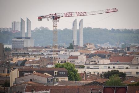 Photo pour The Famous Chaban-Delmas lift bridge in Bordeaux, Aquitaine, France - image libre de droit