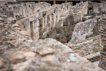 Foto per Close-up on the old stones of the basement of the Colosseum in Rome Italy - Immagine Royalty Free