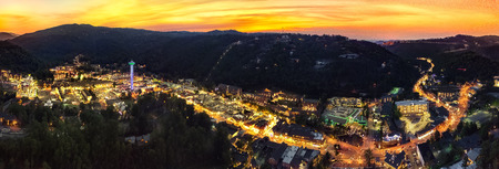 Photo for A drone aerial shot of Gatlinburg, TN - Royalty Free Image