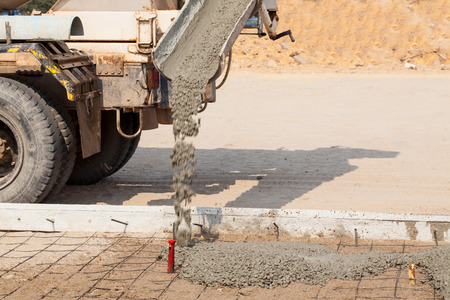 Transport cement is mixed