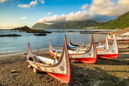 Photo for Aboriginal canoe at Lanyu (Orchid Island), Taitung, Taiwan - Royalty Free Image