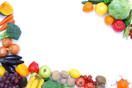 Photo pour fruits and vegetables frame - image libre de droit