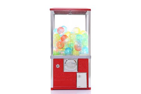 Foto de capsule toy vending machine isolated on white - Imagen libre de derechos