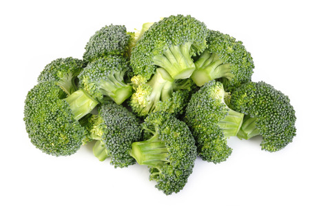 Photo pour Broccoli vegetable isolated on white background - image libre de droit