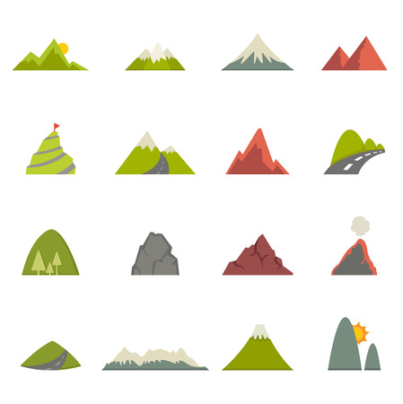 Illustration pour illustration of Mountain icons  - image libre de droit