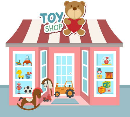 Illustration pour illustration of toy shop - image libre de droit