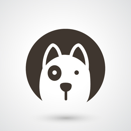Illustration pour illustration of dog icon  - image libre de droit