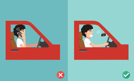 Illustration pour no cell phones - while driving,illustration,vector - image libre de droit