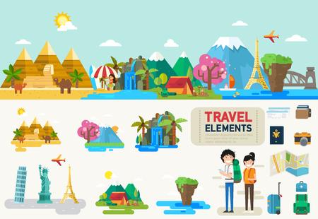 Foto de Travel infographic elements.vector illustration - Imagen libre de derechos