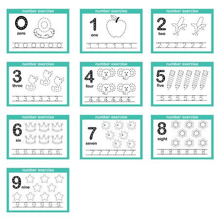 Ilustración de number exercise illustration vector - Imagen libre de derechos