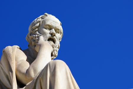 Foto de Statue of Socrates in front of the University of Athens in Greece - Imagen libre de derechos