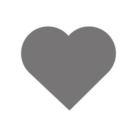 Illustration pour hearth shape icon design, gray on white background - image libre de droit