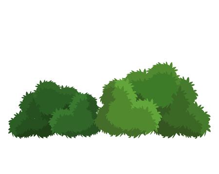 Illustration pour Bushes natural wild image - image libre de droit