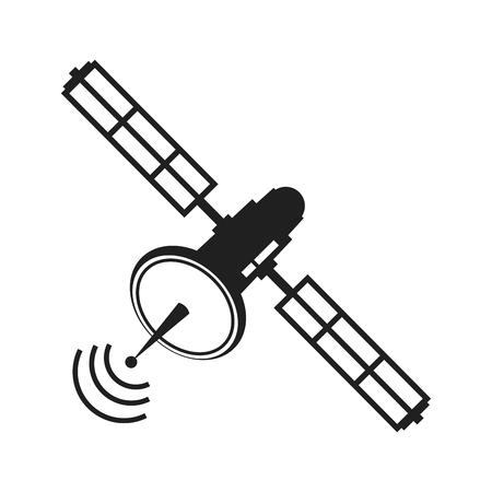 Illustration pour Communications satellite signal transmission technology vector illustration - image libre de droit