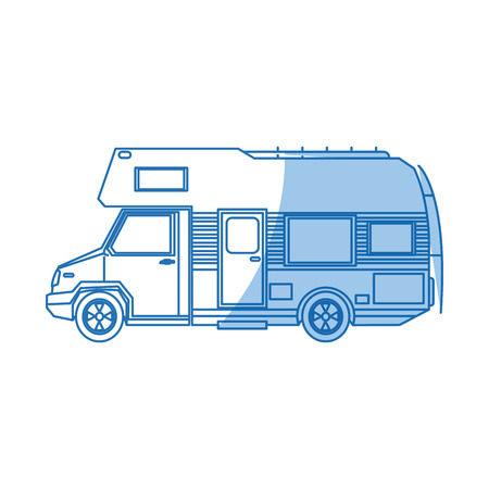 Illustration pour truck camper home travel transport image vector illustration - image libre de droit