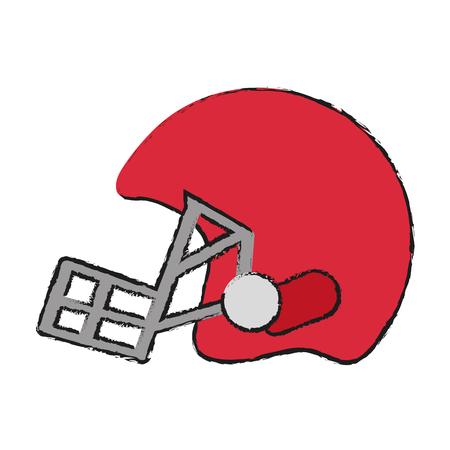 helmet american football icon image vector illustration design