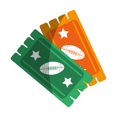 game tickets american football icon image vector illustration design