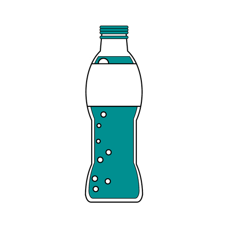 Illustration pour Soda of drink beverage  theme Isolated design Vector illustration - image libre de droit