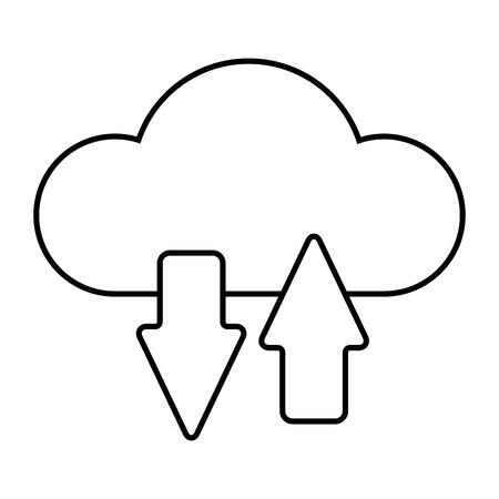 Illustration pour Cloud computing technology icon illustration graphic design. - image libre de droit