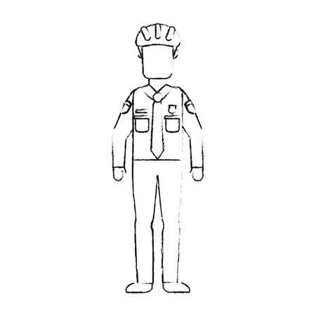 Illustrazione per Police officer avatar vector illustration graphic design - Immagini Royalty Free