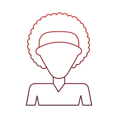 Illustrazione per Woman faceless profile vector illustration graphic design - Immagini Royalty Free