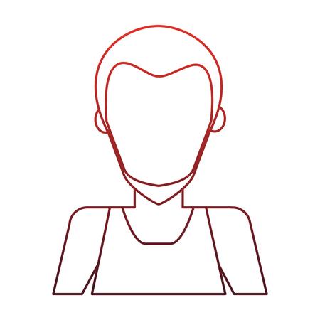 Illustrazione per Man faceless avatar vector illustration graphic design - Immagini Royalty Free