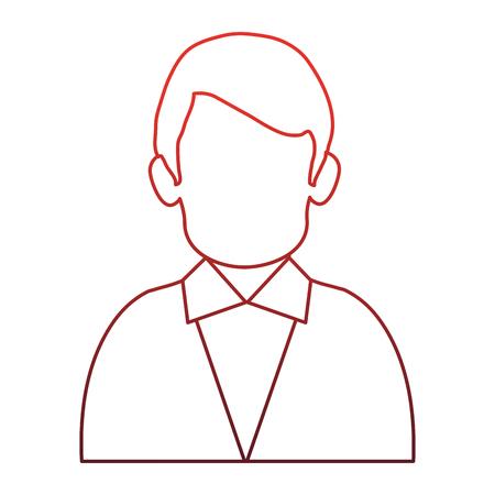 Illustrazione per Businessman faceles profile vector illustration graphic design - Immagini Royalty Free