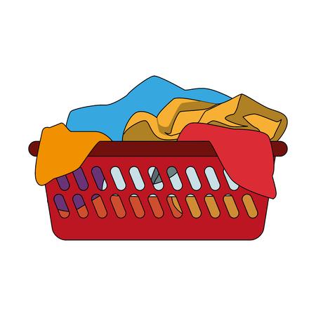 Illustration pour Clothes in basket vector illustration graphic design - image libre de droit