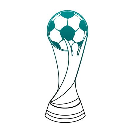 Ilustración de Football Soccer world trophy vector illustration graphic design - Imagen libre de derechos