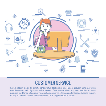 Ilustración de Customer service infographic vector illustration graphic design - Imagen libre de derechos