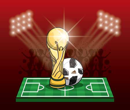 Soccer tournament info-graphic with elements vector illustration graphic design.