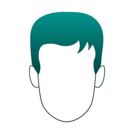 Illustrazione per Man faceless cartoon vector illustration graphic design - Immagini Royalty Free