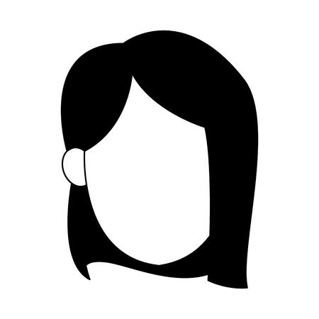 Illustrazione per Young woman faceless vector illustration graphic design - Immagini Royalty Free