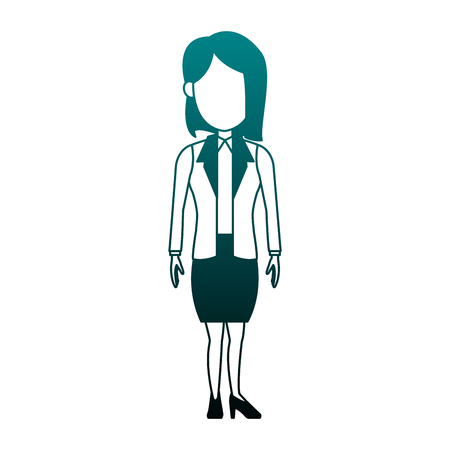 Illustrazione per Executive business woman cartoon vector illustration graphic design - Immagini Royalty Free