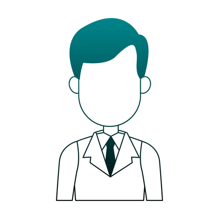 Illustrazione per Executive businessman faceless cartoon vector illustration graphic design - Immagini Royalty Free