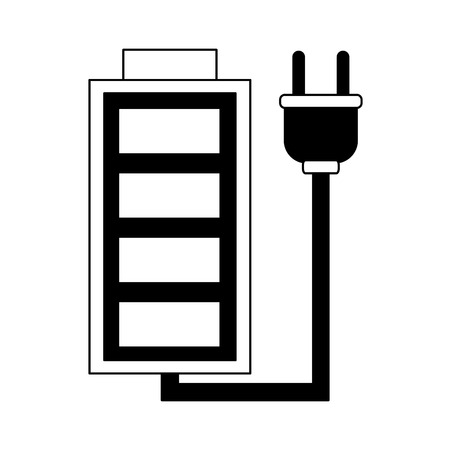 Ilustración de Rechargeable battery symbol vector illustration graphic design - Imagen libre de derechos