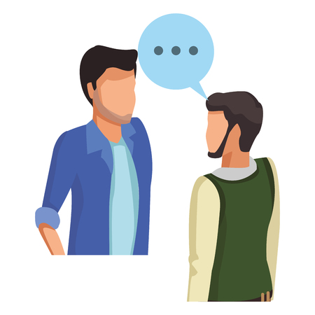 Illustrazione per People talking with speech bubbles avatar vector illustration graphic design vector illustration graphic design - Immagini Royalty Free