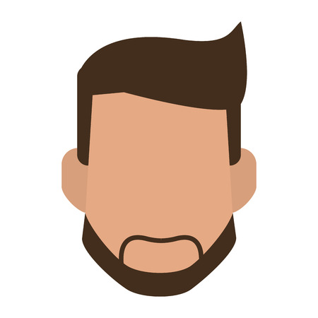 Illustrazione per Man with beard faceless head vector illustration graphic design - Immagini Royalty Free