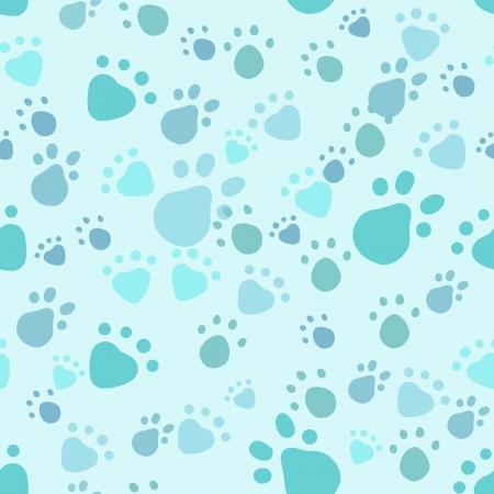 seamless pattern with pet legs' imprint
