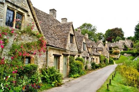 Houses of Arlington Row in the village of Bibury, England