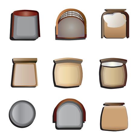 Ilustración de Chairs top view set 1 for interior ,vector illustration - Imagen libre de derechos