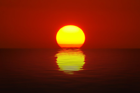 Photo for Egg Yolk Sunset - Royalty Free Image