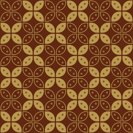 Photo for Javanese Batik Seamless Pattern - Set G Kawung Simplified Marquise Chain - Royalty Free Image