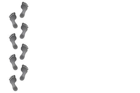 Ilustración de Footprints design layout background vector with copy space. - Imagen libre de derechos