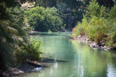 Photo pour Jordan River, place of baptism - image libre de droit